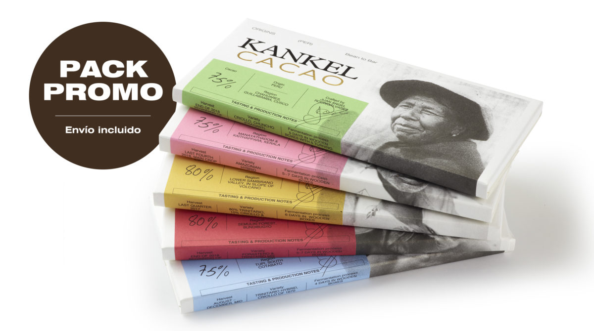 Kankel Cacao Origins - Bean to Bar - Pack Promo 5 tabletas